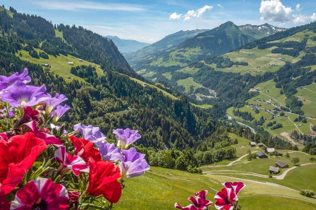 uitzicht oostenrijk Walsertal bergen