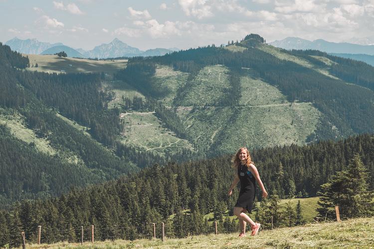 uitzicht tijdens mountainbike tour salzburgerland
