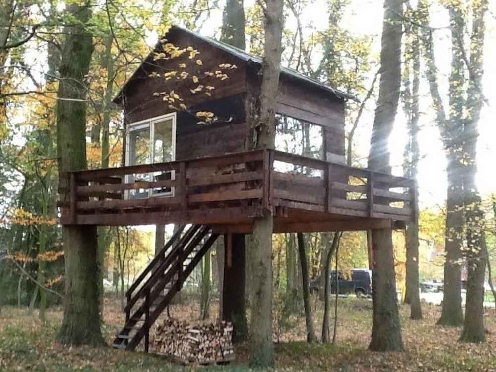 vakantiehuis in Twente, Boomhut
