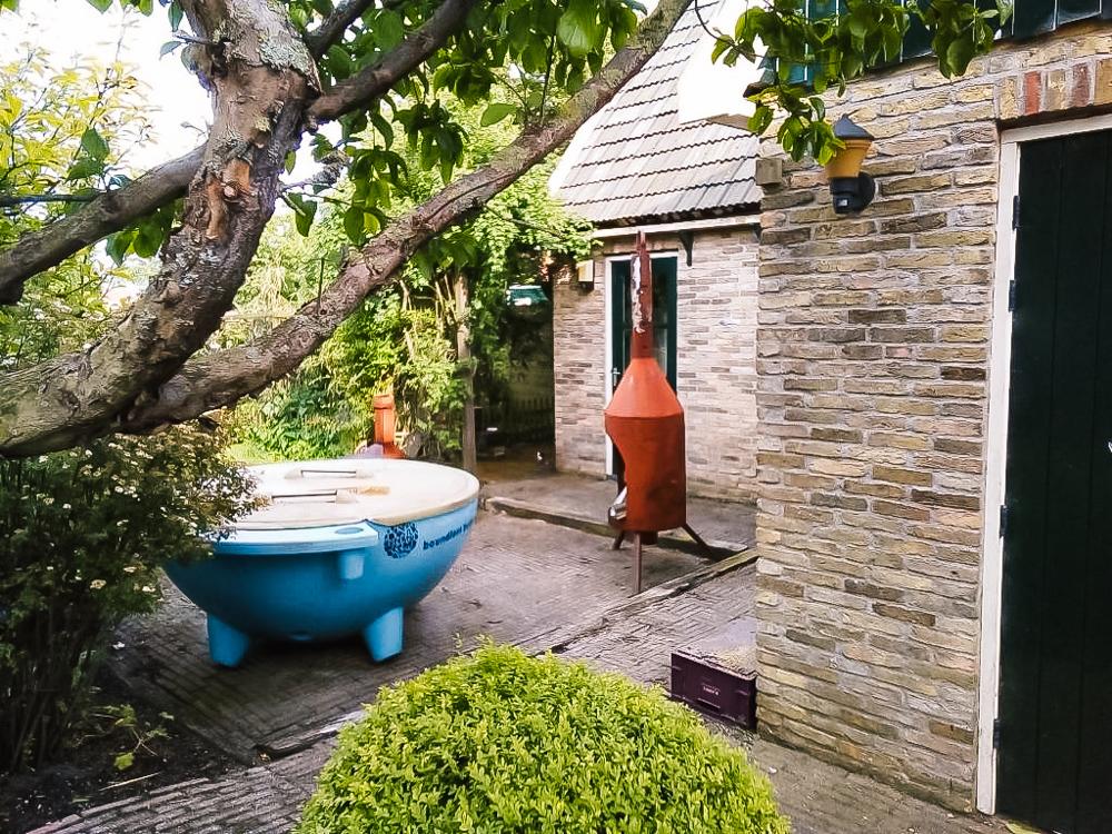 vakantiehuisje terschelling Hottub bij tiny house
