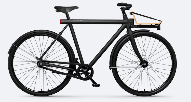 van moof trendy fiets zwart