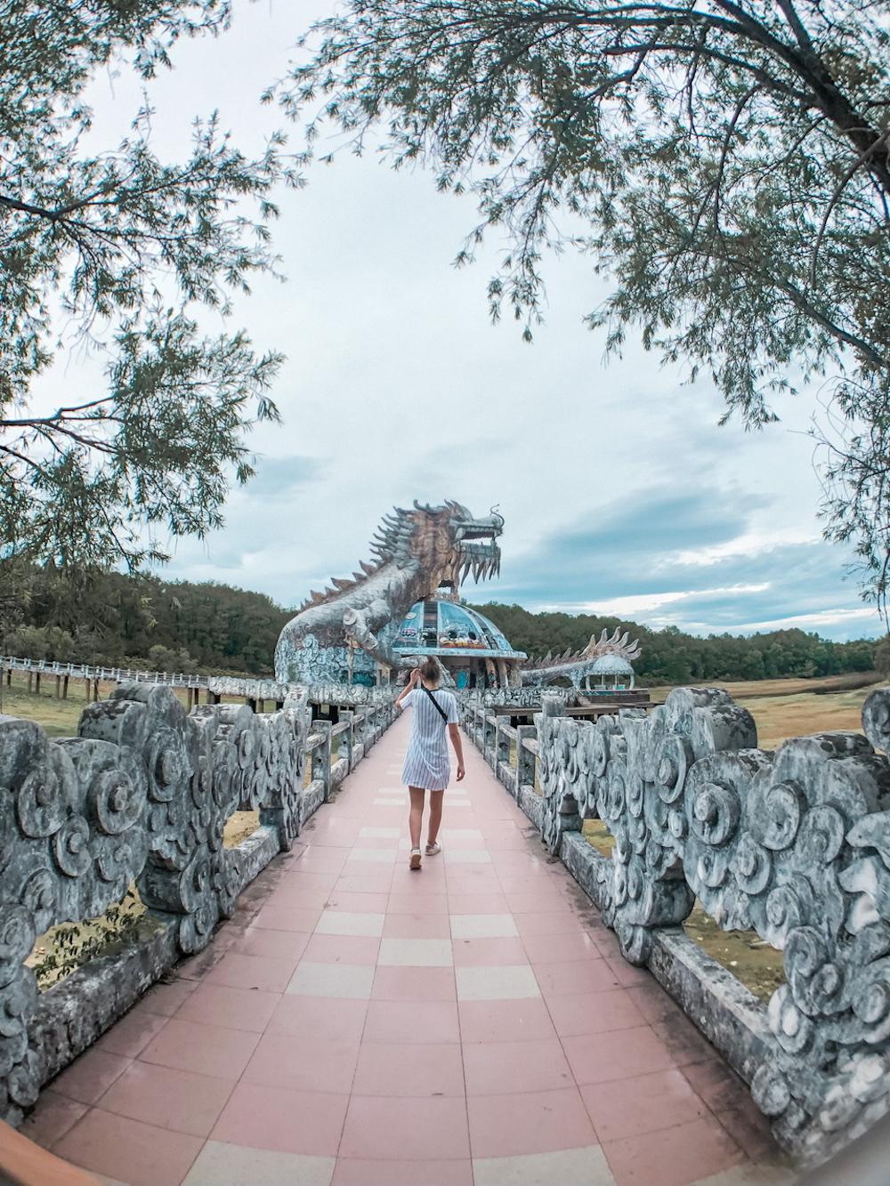 vietnam abandoned waterpark backpack route hue