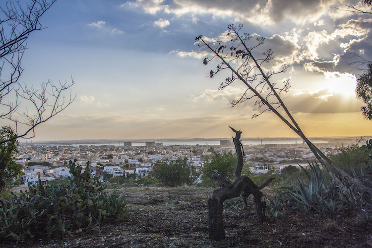 viewpoint tunesie vakantie zonsondergang