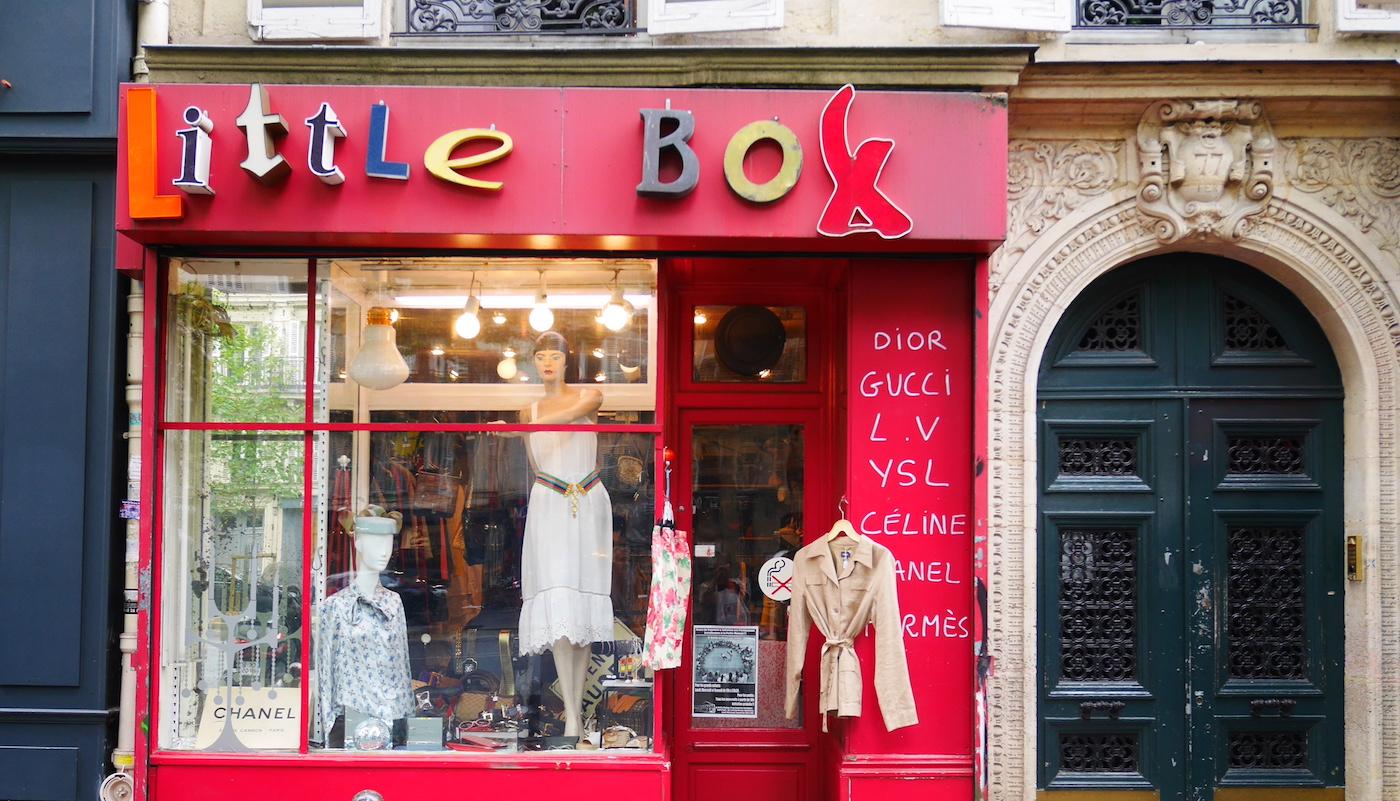 vintage winkels in Parijs