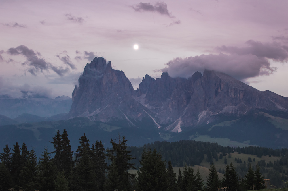 wandelen dolomieten avond Val Gardena
