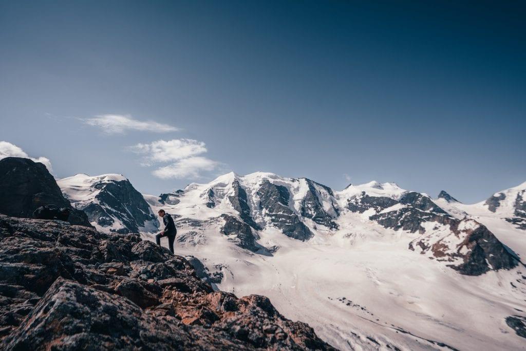 graubunden zwitserland bergen wandelen