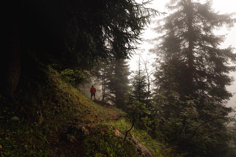 wandelen in montafon mist