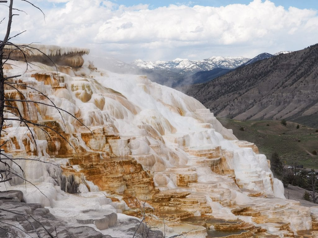 wat te doen in yellowstone Mammoth Hot Springs