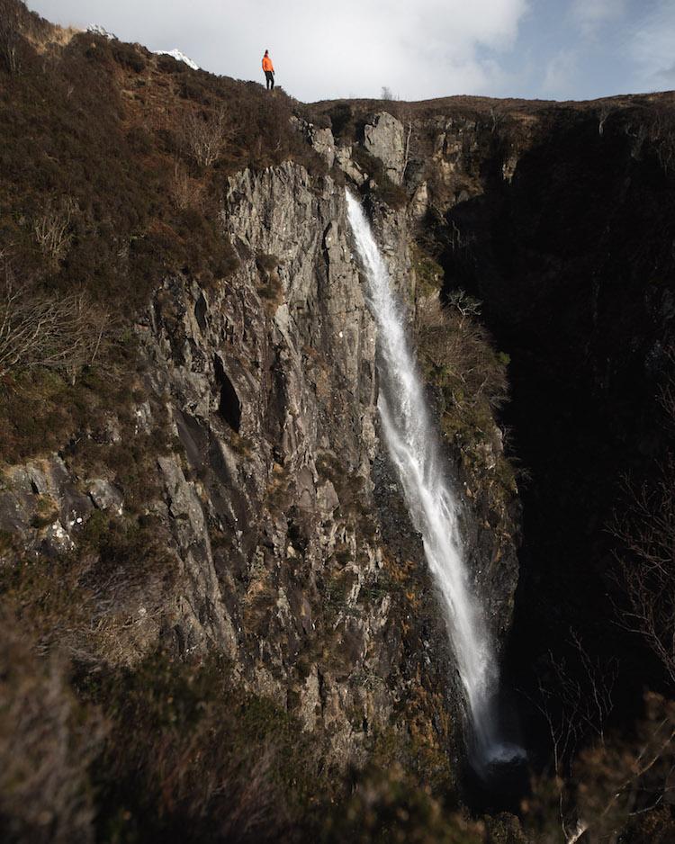 waterval Sgurr Alasdair winter schotland
