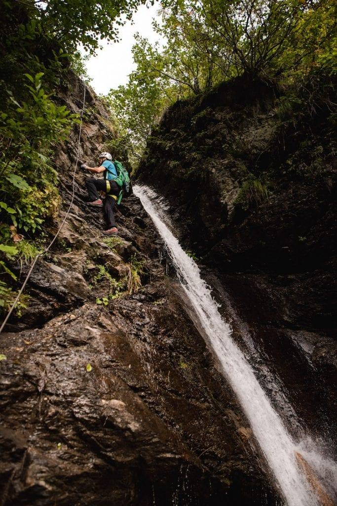 waterval tijdens wandelen in montafon oostenrijk