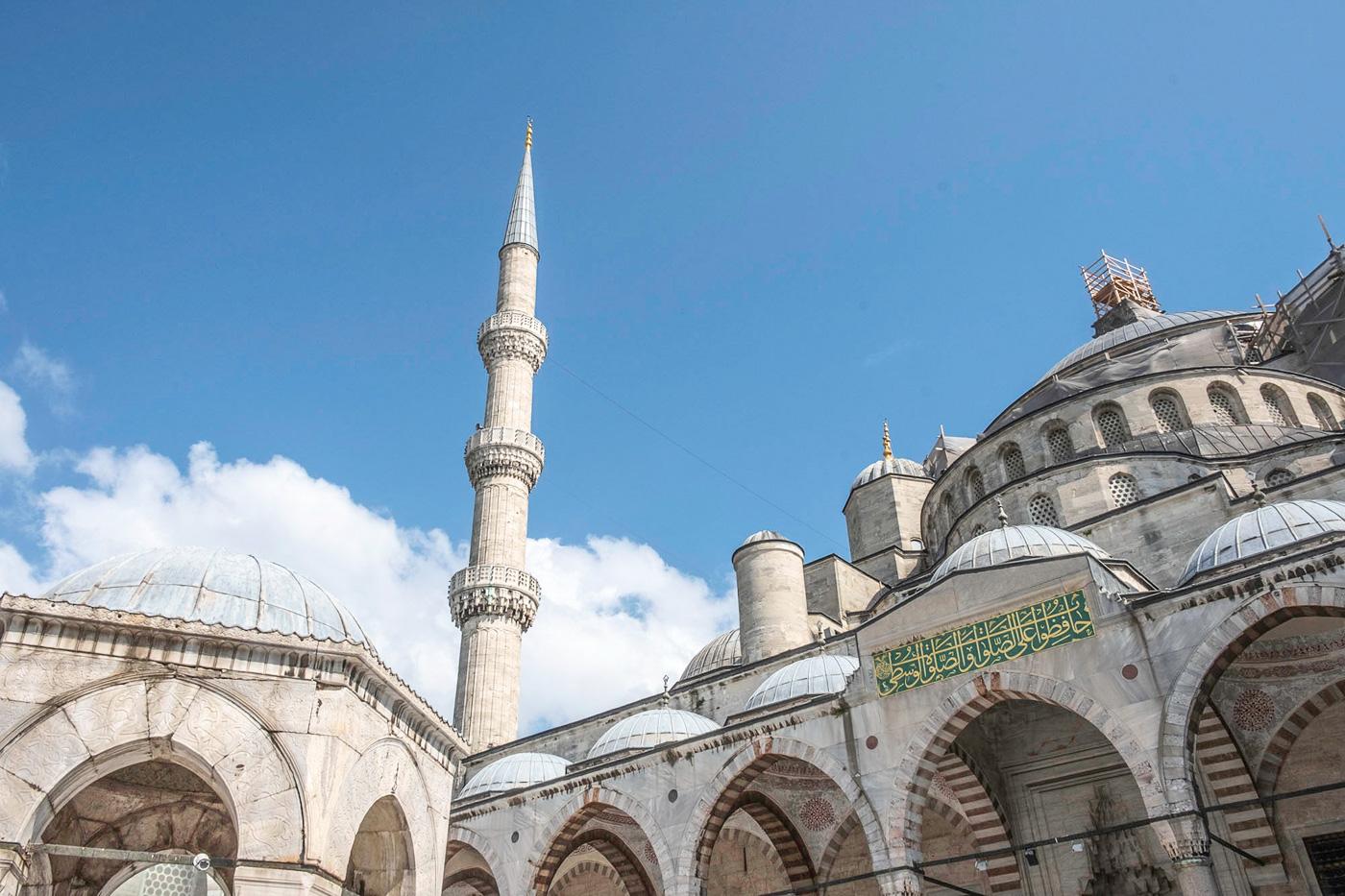 weekend Istanbul blauwe moskee buiten