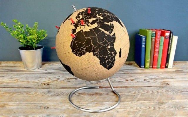 Wereldbol van kurk