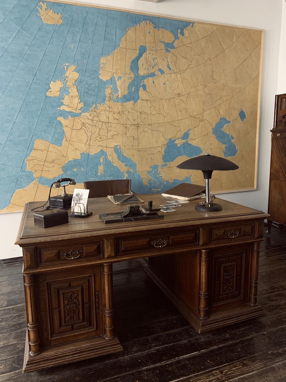 wereldkaart Fabriek van Oskar Schindler krakau