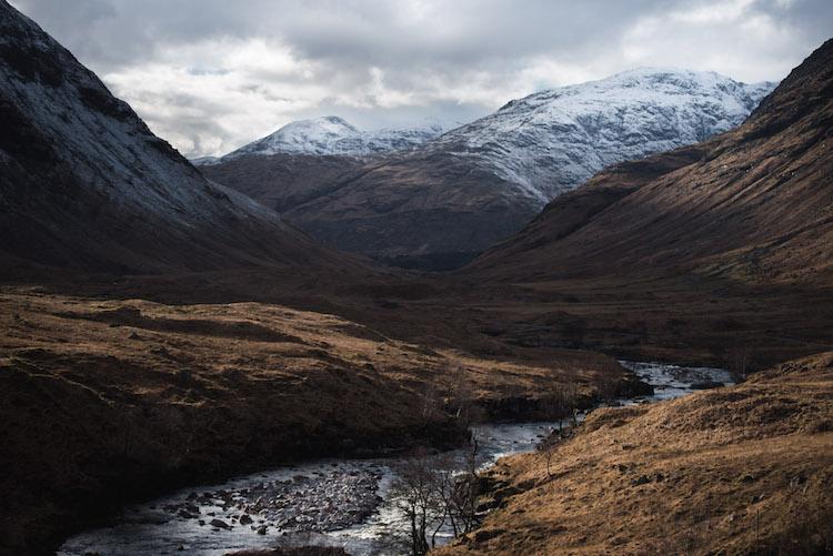 winter Schotland Glencoe en Glen Etive