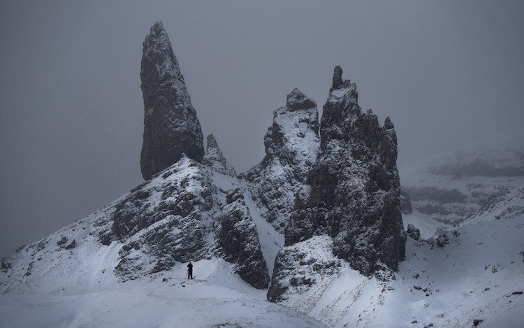 winters schotland Old man of Storr