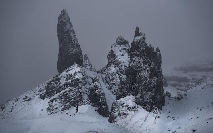 winters schotland Old man of Storr