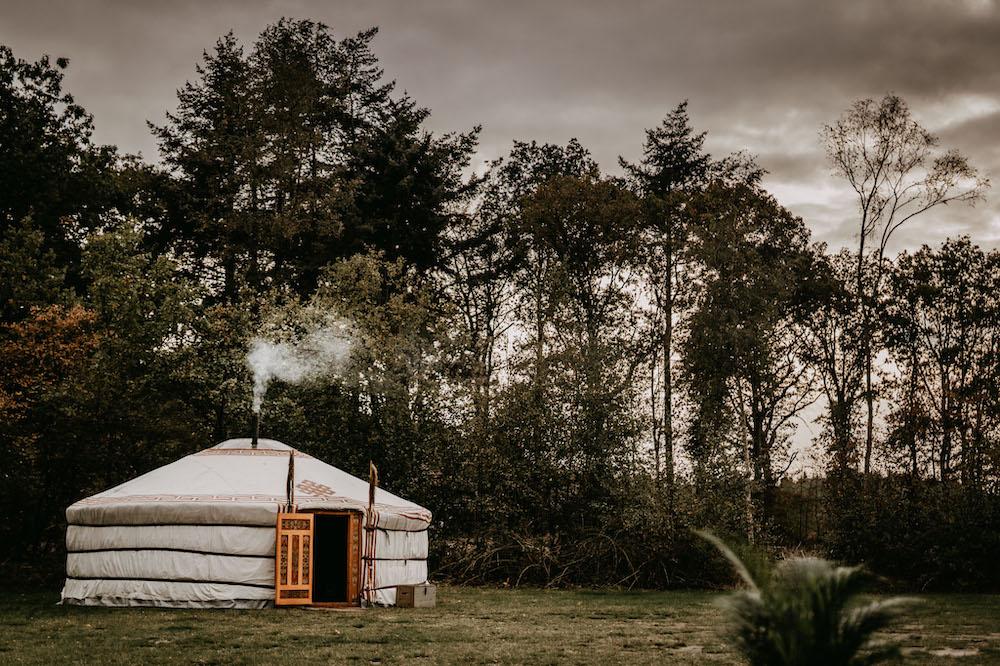 winterwoods pop up camping yurt