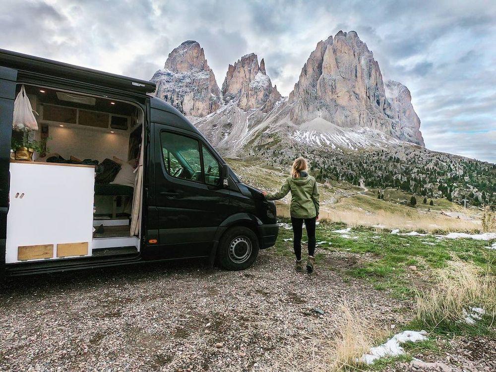 wonen in een camper italie sneeuw