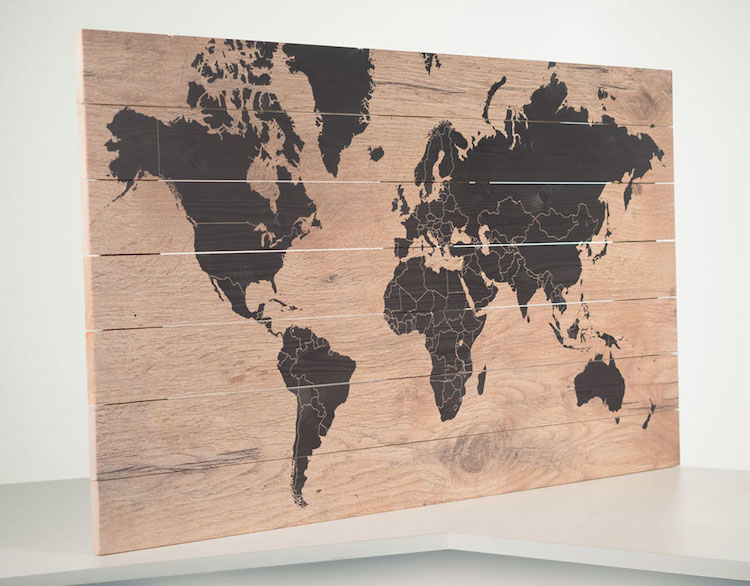 woodmap kortingscode wereldkaart van hout