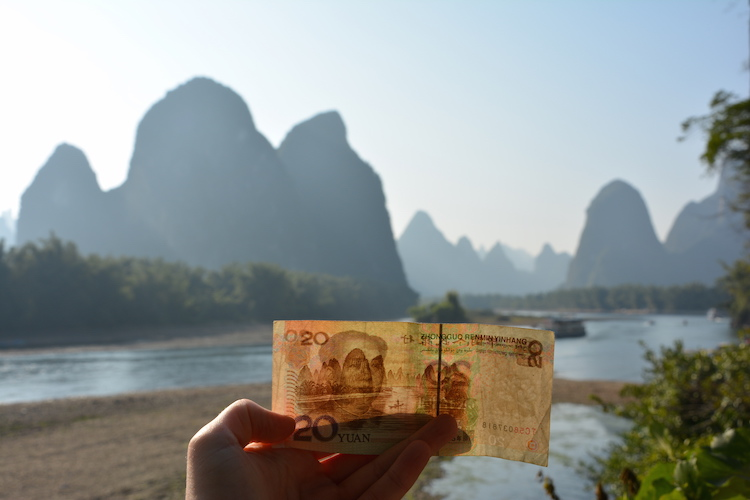 yangshuo-china-karstgebergte-20-yuan-biljet