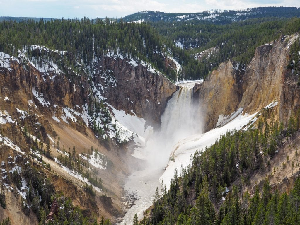 yellowstone national park waterval