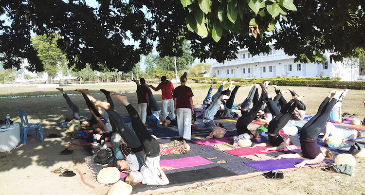 yoga practice outside yoga teacher training