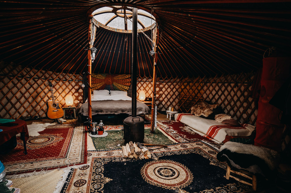 yurt in nederland winterwoods