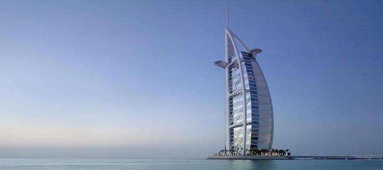 zeven sterren hotel burj al arab dubai