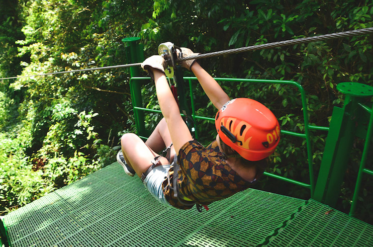 zip lining costa rica arenal sky adventures begin