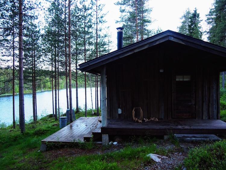 zomervakantie lapland sauna meer