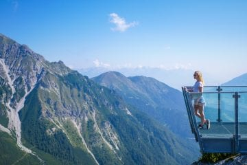 zomervakantie stubaital Schlick 2000 wandelroutes uitkijkpunt