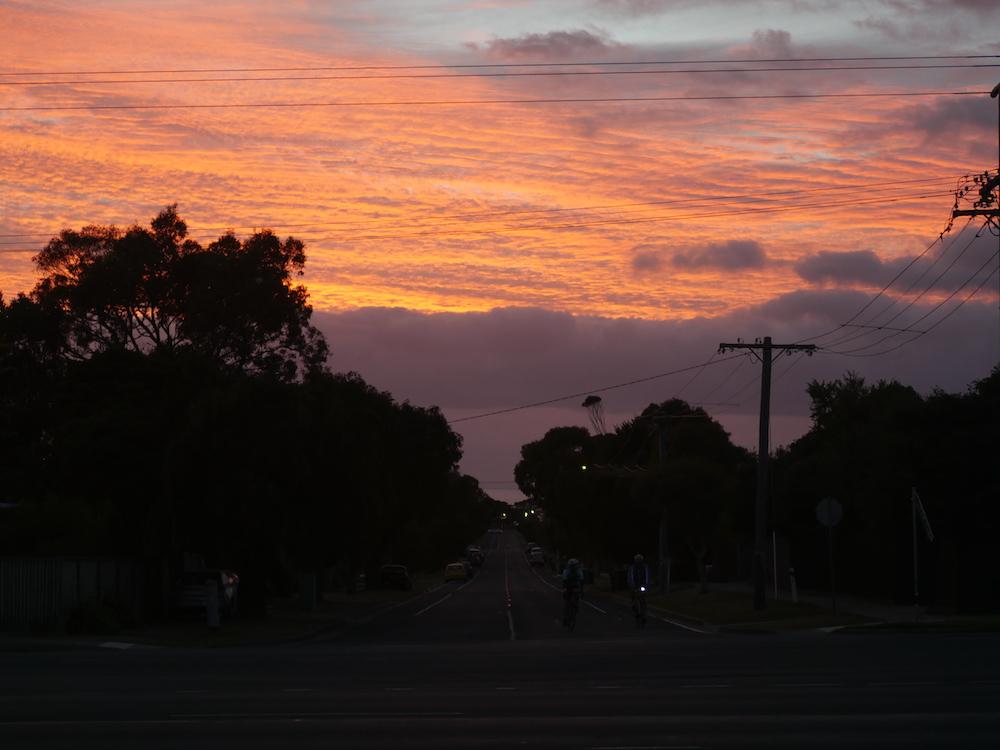 zonsondergang great ocean road