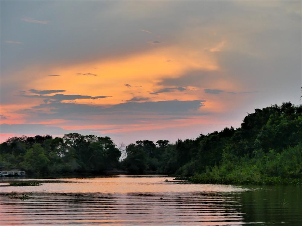 zonsondergang pantanal in brazilie
