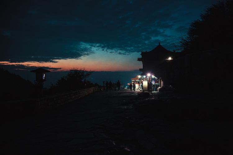 zonsopkomst heilige berg taishan china