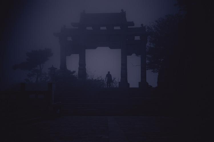 zonsopkomst taishan china heilige berg
