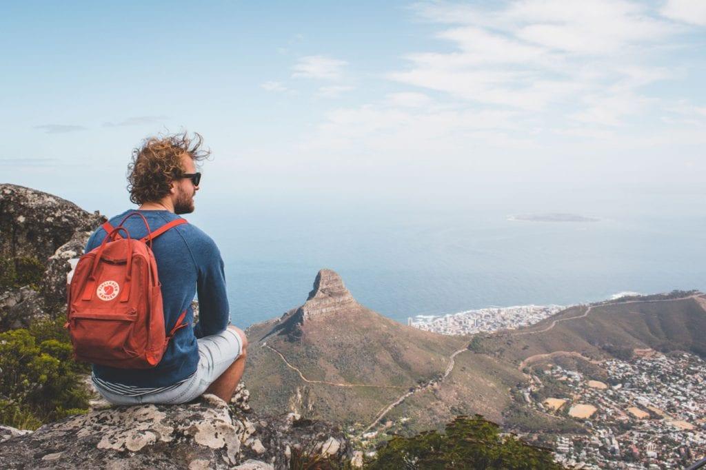 zuid afrika tafelberg beklimmen
