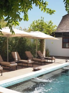 zwembad Bushmans kloof vakantiehuis
