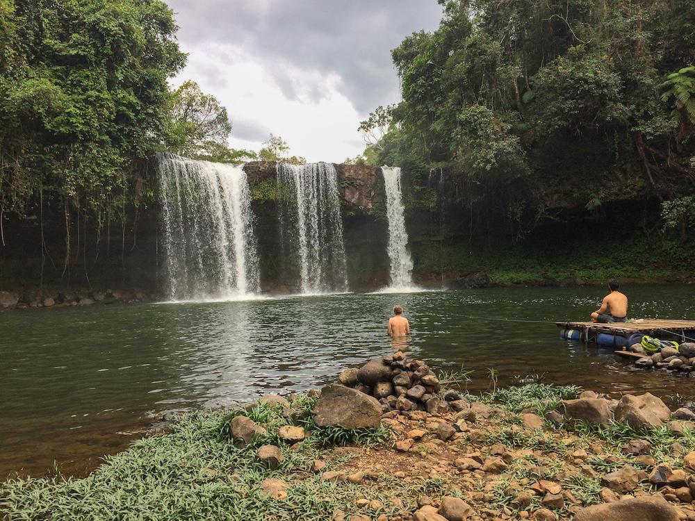 zwemmen watervallen laos